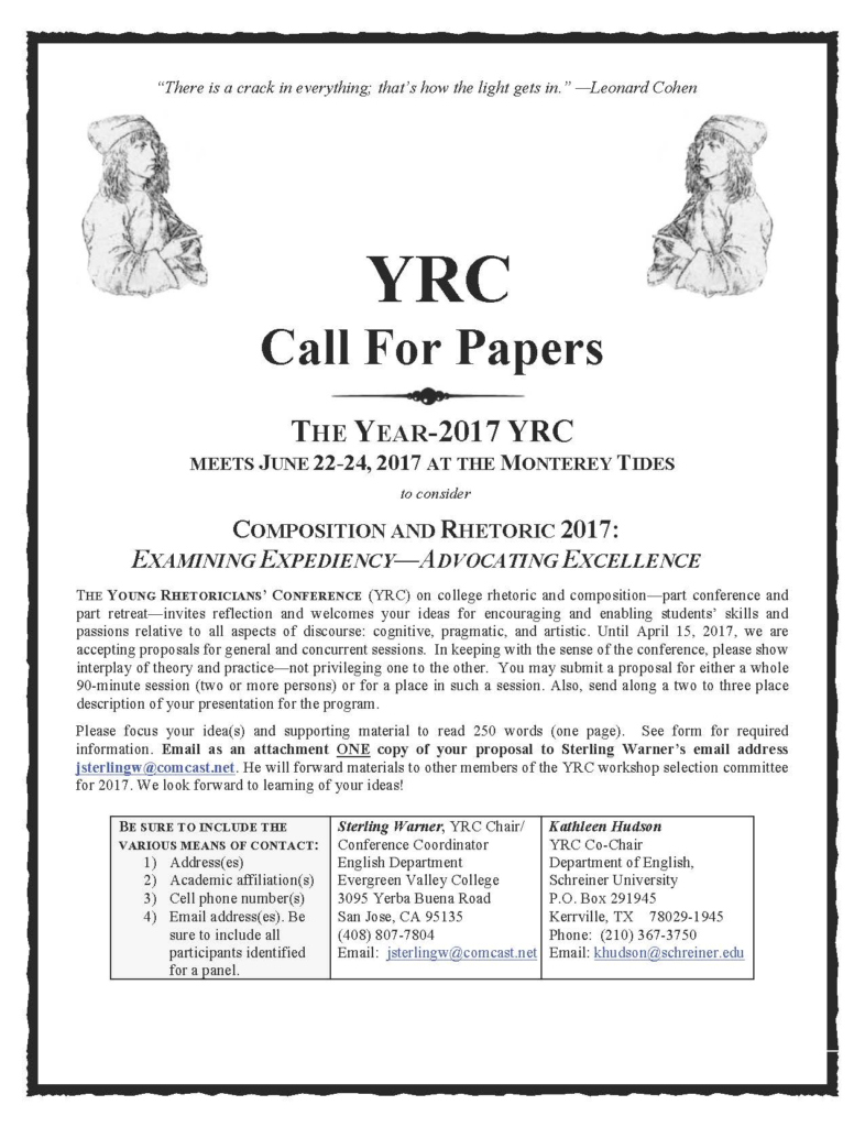 YRC 2017 Call for Proposals